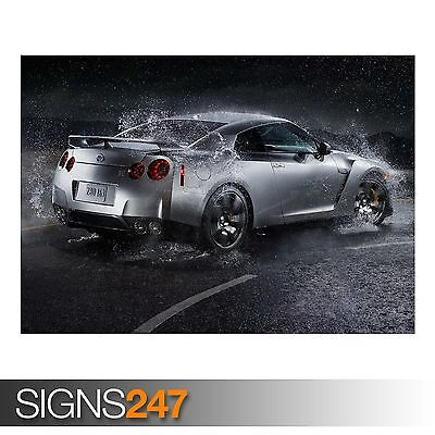 NISSAN GT R AA140 CAR POSTER Photo Picture Poster Print Art A0 A1 A2 A3 A4