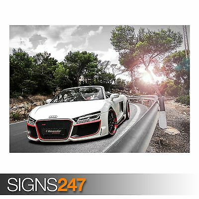 CAR POSTER AA827 Photo Picture Poster Print Art A0 A1 A2 A3 A4 AUDI ENGINE