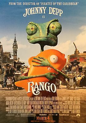 RANGO Movie Poster - RANGO Original Medium Size Print ~ Johnny Depp