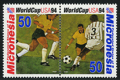 Micronesia 196-197a pair, MNH. World Cup Soccer Championships, US. Players, 1994