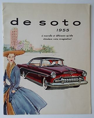 1955 DeSoto Large Canadian Dealer Brochure Printed in French Last Time Offered