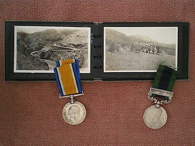 WW1 WAR & INDIA MEDALS & ALBUM to HOGG, 13th HUSSARS & 1st KING'S DRAGOON GUARDS