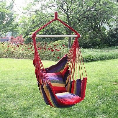 Garden Hanging Seat Tree Hammock Camp Porch Swing Chair Camping Outdoor Red