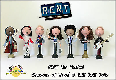 RENT the Musical 7 Doll set by FaBi DaBi Dolls