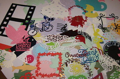 CRAFT CLEAROUT MIX OF 50 CARD/PAPER DIE CUTS sizzix,t lace + ..