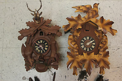 Cuckoo clocks lot of 2 large pc for refubish or parts