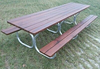 LIVING ACCENTS PICNIC Table Frame Fiesta Charm H X W X L - Heavy duty commercial outdoor park picnic table frame kit