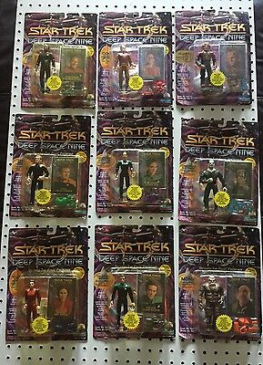 Lot Of 9 Deep Space Nine Beyond The Final Frontier Action Figures 1993