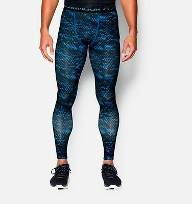 Under Armour Compression Tights-Blue/Black