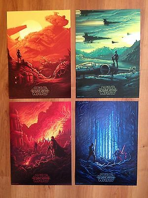 STAR WARS THE FORCE AWAKENS IMAX ORIGINAL EXCLUSIVE Complete set of 4 RARE NEW