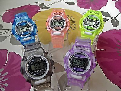 Newest Kids Digital LED Watches Date Rubber Children Boy Girl Sports Watch