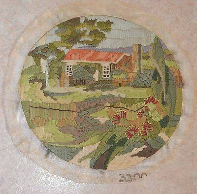 Vintage Cottage Country Garden Completed Tapestry Longstitch Image = 29x28cm