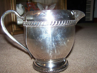 Silverplate Water Pitcher with Ice Lip; Marked 1893, Rogers
