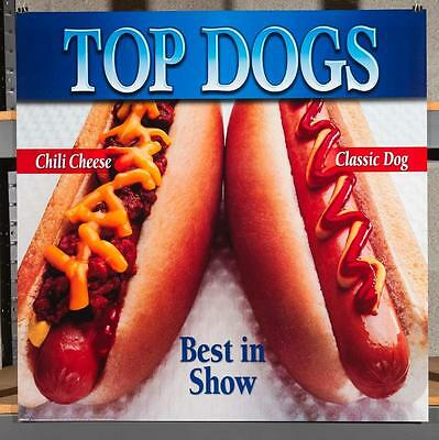 Dairy Queen Promotional Poster For Backlit Menu Sign Top Dogs Hot Dogs dq2