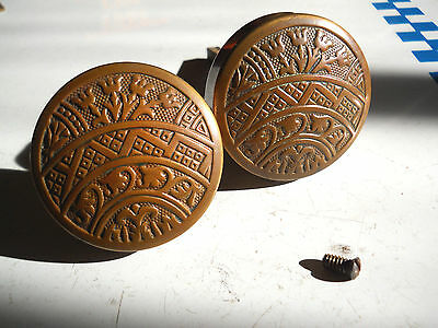 1880s EASTLAKE BRONZE DOOR KNOBS old CORBIN'S CONNECTICUT HARDWARE