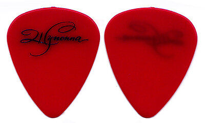 Wynonna Judd 1998 Tour Guitar Pick : The Judds red signature