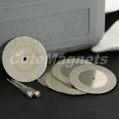 10Pcs 40mm Diamond Coated Rotary Cutting Cut Off Disc Wheel Blade with 2 Mandrel