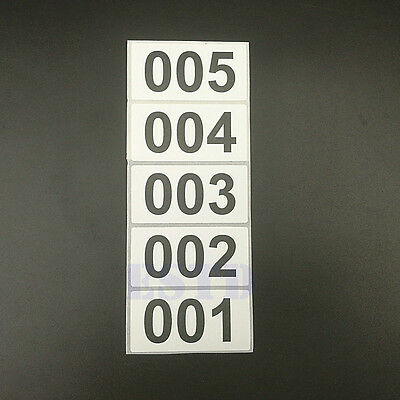 "New 1000 X Consecutive Number Inventory Sticker Thermal Sticker 1.57"" x  0.78"""