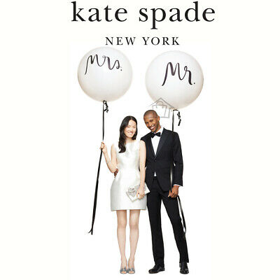 NEW Kate Spade GIANT Wedding Balloons Mr & Mrs set of 2 Latex Bridal Balloon