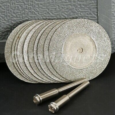 10Pcs 35mm Diamond Coated Cutting Off Disc Wheel Blades For Grinder Drill Rotary