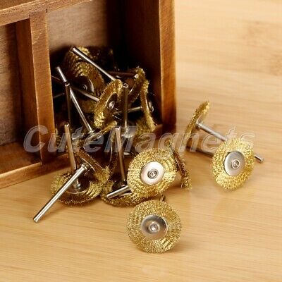 20Pcs Brass Wire Wheel 25mm Brushes for Polishing Grinding Power Rotary Tools