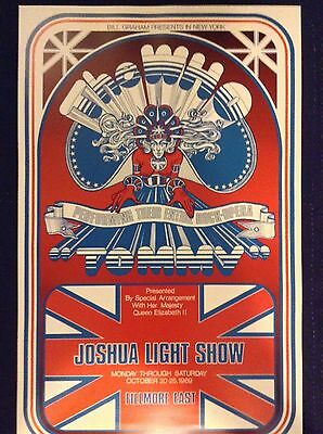 THE WHO FILLMORE EAST CONCERT POSTER -2nd pressing limited run of 500-mint cond.