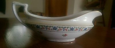 Antique WH GRINDLEY Granby Gold Accent GRAVY BOAT no underplate euc