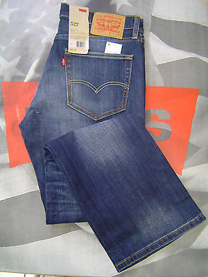 Levi's 527 Men's Slim Boot Cut Low Rise Zip Fly Stretch Jeans Allusions #0489