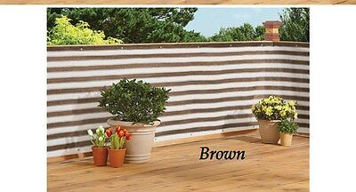 Deck & Fence Privacy Netting Screen -Brown Stripe