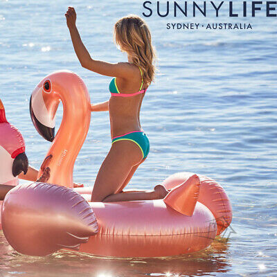 NEW Sunnylife Rose Gold Flamingo HUGE Luxe Float Inflatable Pink Large Pool