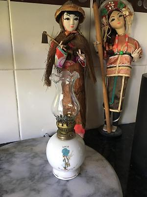 Vintage Holly Hobbie Oil Lamp /  - Rare &  Fabulous - Collectable
