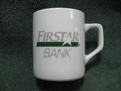 Vintage FIRSTAR BANK Coffee Mug-Banking-Mortgage-Financial Collectible-Display!!
