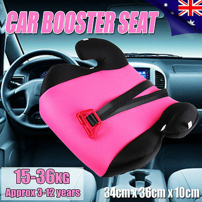 New Car Booster Seat Safe Sturdy Baby Child Kid Children Fit 3 To 12 Years Pink