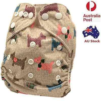 New Cute Modern Cloth Nappy Diaper Adjustable Washable Reusable Nappies (D997)