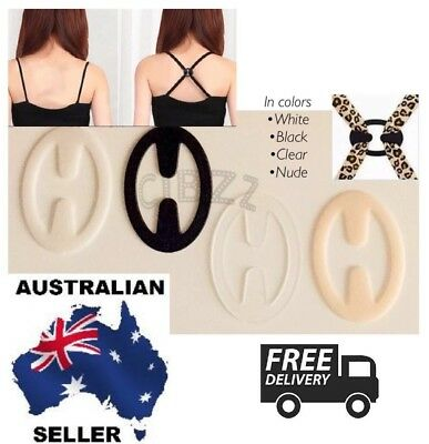 4x Bra Strap Holders Shoulder Anti Slip Support Cleavage Control Clips SET