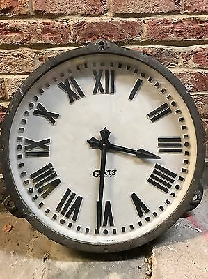 Gents Of Leicester Factory Clock Antique Cast Iron