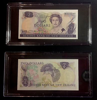 New Zealand Replacement Star Banknote's $2 Hardie Type 2 EB* - UNC. CV = NZ$40.