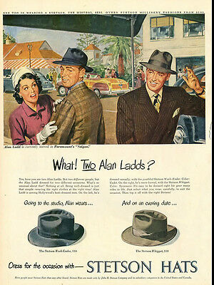 1948 vintage ad for Stetson Hats