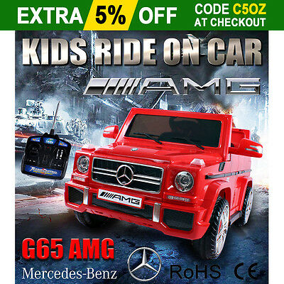 New Licensed Mercedes-benz G65 AMG Kids Ride on Car Remote Control Battery 12V