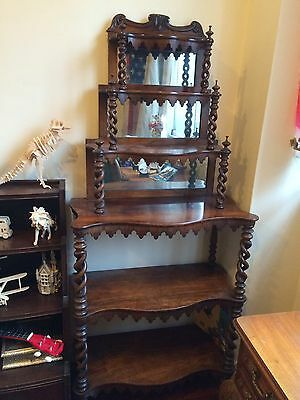 Antique Sideboard With Display Shelves