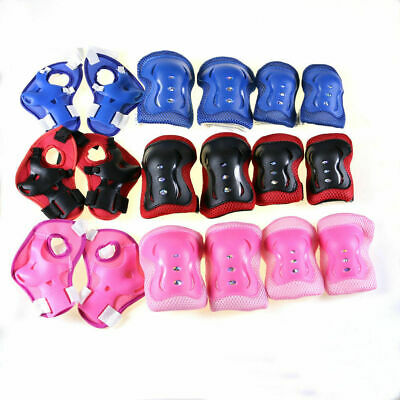 6Pcs Kids Cycling Roller Ski Skate Skating Knee Elbow Wrist Safety Gear Pads AU