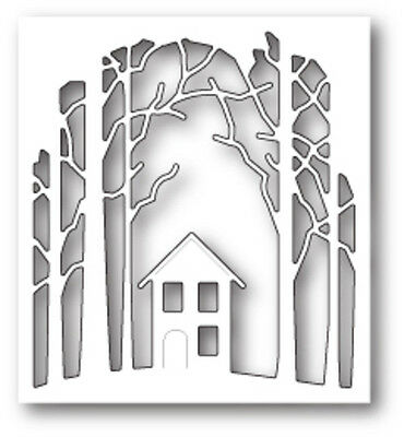 Poppystamps Dies - HOUSE IN THE WOODS 1654