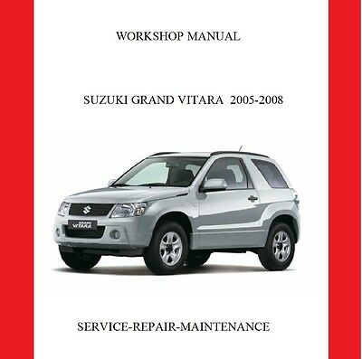 2005-2008 Suzuki Grand Vitara Professional Service Repair Manual Auto