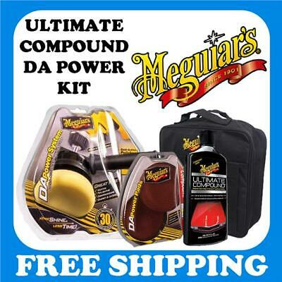 Meguiars G3500 DA Power System With G3507 Compound Pads and Ultimate Compound.