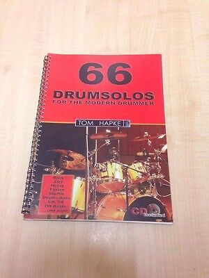 66 Drum Solos For The Modern Drummer, Drum Book & Cd Drum Kit Student Jazz, Rock
