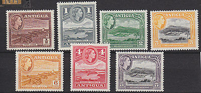 Antigua 1953 Sg 120a-126 lightly m-mint