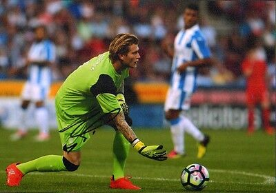12x8 HAND SIGNED PHOTO LORIS KARIUS LIVERPOOL GOALKEEPER