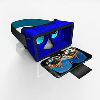 Virtual Reality Headset for SmartPhones Blue by SmartTheater