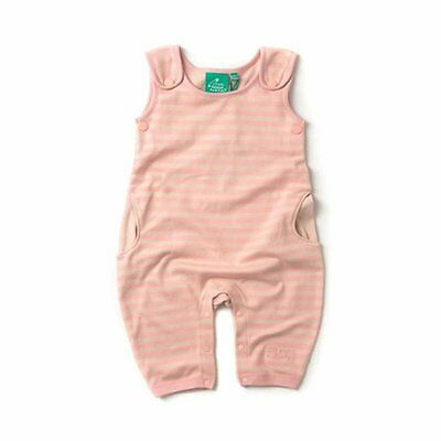Little Green Radicals Organic cotton Cloud Pink stripe Dungarees  0 3 6 9