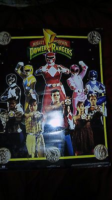 Rare Original 1994 Mighty Morphin Power Rangers First Cast Vintage Poster